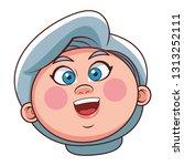 grandmother elder person head | Shutterstock .eps vector #1313252111