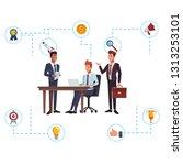 business teamwork networking   Shutterstock .eps vector #1313253101
