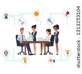 business teamwork networking   Shutterstock .eps vector #1313253104