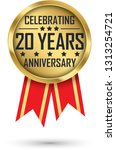 celebrating 20 years... | Shutterstock .eps vector #1313254721
