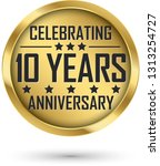 celebrating 10 years... | Shutterstock .eps vector #1313254727