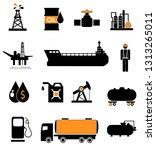 oil icon set | Shutterstock . vector #1313265011