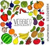 food vector logo design... | Shutterstock .eps vector #1313265854