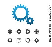 cogwheel gear mechanism vector... | Shutterstock .eps vector #131327087