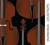 double bass background with... | Shutterstock .eps vector #1313276291