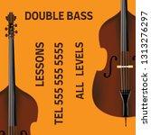 double bass lessons brochure... | Shutterstock .eps vector #1313276297
