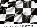 checkered black and white flag... | Shutterstock . vector #131327897