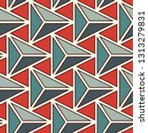 contemporary geometric pattern. ... | Shutterstock .eps vector #1313279831