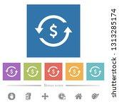 dollar pay back flat white...   Shutterstock .eps vector #1313285174