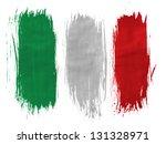 italy. italian flag  painted... | Shutterstock . vector #131328971