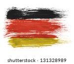 germany. german flag  on white... | Shutterstock . vector #131328989