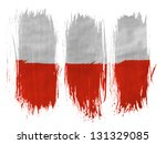 the polish flag painted with 3... | Shutterstock . vector #131329085