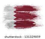 the qatari flag on white... | Shutterstock . vector #131329859