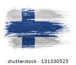 suomi finland. finnish flag  on ... | Shutterstock . vector #131330525