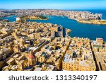 aerial view of valletta city  ... | Shutterstock . vector #1313340197