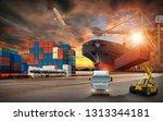 logistics and transportation of ... | Shutterstock . vector #1313344181