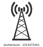 signal transmitter tower | Shutterstock .eps vector #1313372561