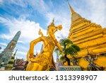 angel in temple of emerald...   Shutterstock . vector #1313398907