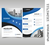 business flyer template with... | Shutterstock .eps vector #1313417111
