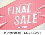 final sale banner pink.vector... | Shutterstock .eps vector #1313421917