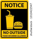 no food allowed symbol  no... | Shutterstock .eps vector #1313422547