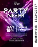 party flyer poster. futuristic... | Shutterstock .eps vector #1313423567
