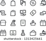 bold stroke vector icon set  ... | Shutterstock .eps vector #1313425661