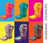 Pop Art Cowboy Boots