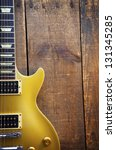 Vintage Gold Top Guitar On Old...