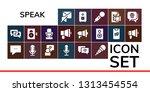 speak icon set. 19 filled speak ...