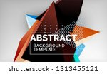 3d geometric triangular shapes... | Shutterstock .eps vector #1313455121
