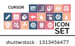 cursor icon set. 19 filled... | Shutterstock .eps vector #1313456477