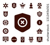 insignia icon set. 17 filled... | Shutterstock .eps vector #1313456501
