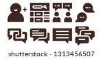 forum icon set. 8 filled forum... | Shutterstock .eps vector #1313456507