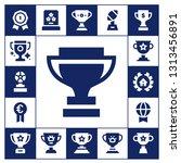 champ icon set. 17 filled champ ... | Shutterstock .eps vector #1313456891
