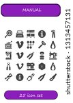 manual icon set. 25 filled... | Shutterstock .eps vector #1313457131