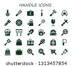 handle icon set. 30 filled... | Shutterstock .eps vector #1313457854