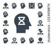 mental icon set. 17 filled... | Shutterstock .eps vector #1313458874