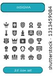insignia icon set. 25 filled... | Shutterstock .eps vector #1313459084