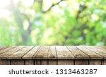 empty wooden table background | Shutterstock . vector #1313463287