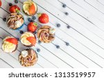 close up view of home made...   Shutterstock . vector #1313519957