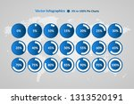percentage vector infographic... | Shutterstock .eps vector #1313520191