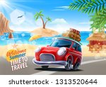 time to travel | Shutterstock .eps vector #1313520644