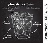 cocktail americano scetch ... | Shutterstock .eps vector #1313523677