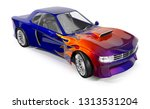 Muscle Car With A Pattern Of...