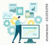 vector illustration of business ... | Shutterstock .eps vector #1313531954