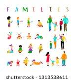 set multiracial kids and set... | Shutterstock .eps vector #1313538611