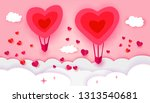 happy valentines day typography ... | Shutterstock . vector #1313540681