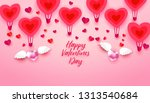 happy valentines day typography ... | Shutterstock . vector #1313540684