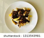 mixed fruit and vegetable rojak ... | Shutterstock . vector #1313543981